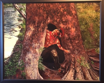 Osage Indian Warrior Native American Painting