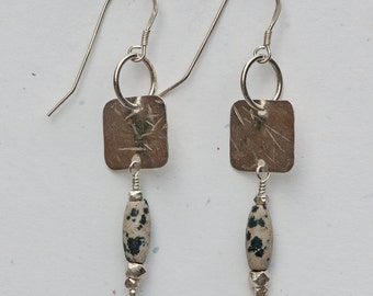 Dalmation Jasper Earrings