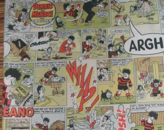 Original Beano Comic Strip cotton fabric