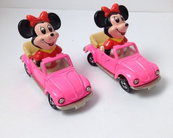 Minnie Mouse vintage pink car toy