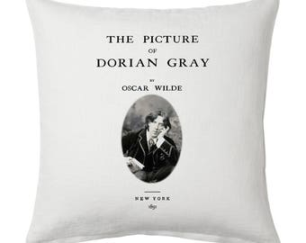 The Picture of Dorian Gray Pillow Cover, Book pillow cover. Throw Pillow, Cushion