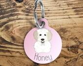 Cavachon Dog name tag, cu...