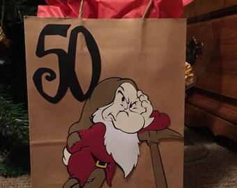 Gift Bag, 50th Birthday Bag, Party Bag
