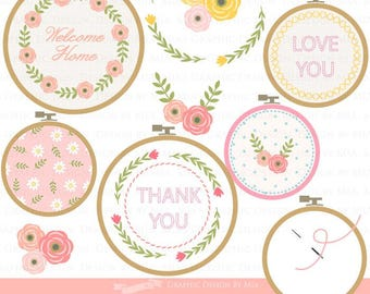 Embroidery Stitches / Sewing / Stitches  Clip Art - Instant Download - CA060