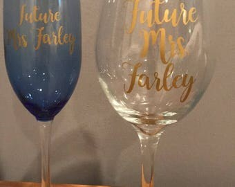 """Future Mrs. or """"The Future Mrs."""" vinyl stickers for engagement, bridal showers, or bachelorette party gifts!"""
