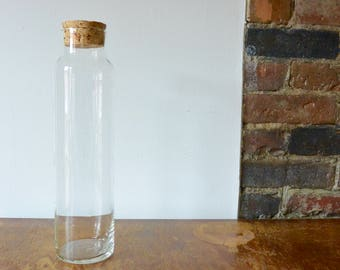 Tall Glass Jar with Cork Top