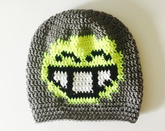 Crochet Slouchy Hat | Large Smile Emoji | iHat v1.0