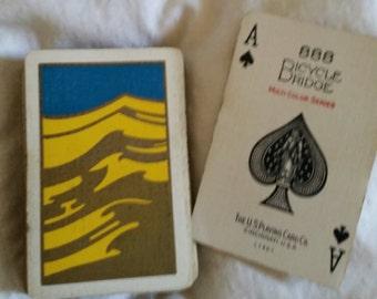 vintage deck of playing cards antique ART DECO Bicycle Bridge