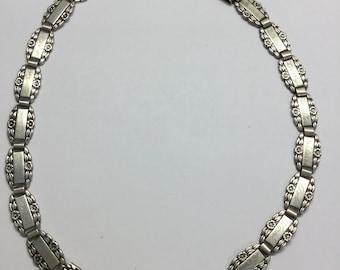 Vintage Art Deco 1940's Forget Me Not WWII Sterling Name Necklace or Bracelet