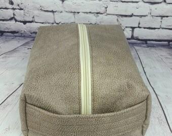 Vinyl Toiletry Toiletries Shaving Kit Boxy Bag