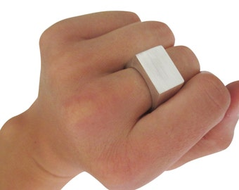 XLarge solid silver signet ring