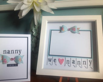 Nanny photo frame with free greeting card
