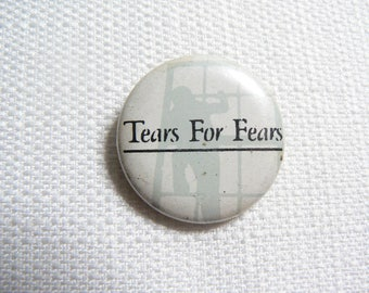 Vintage Early 80s - Tears For Fears Pin / Button / Badge