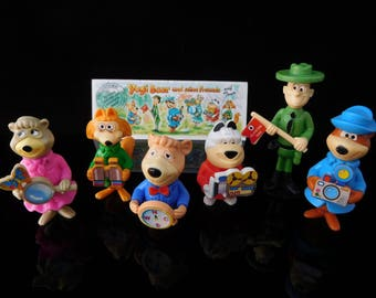 Vintage Toys, Collectible, Yogi Bear and his Friends on Tour, Complete Series of 6, Vintage KINDER Surprise Figurines