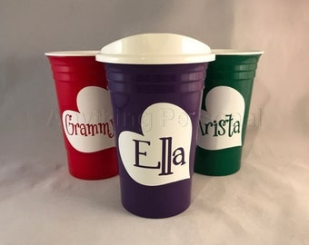 Personalized Gift, Personalized Solo Cup, Heart Cup, Name Cup, Personalized Cup, Personalized Gift, Love Cup, Name Gift, Valentine's Gift