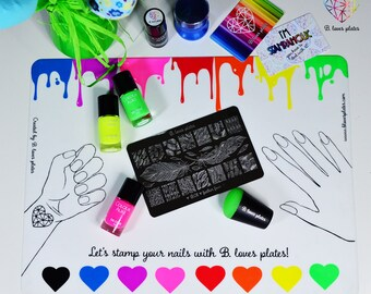 Rainbow Mat - perfect colorful stamping mat (B. Loves Plates)