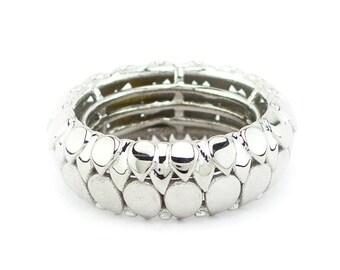 Silver Leafy ring