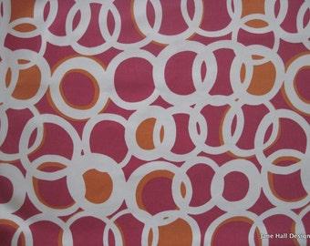 "Harlequin Fabric ""Zsa Zsa"" Pink ,Fuschia and Orange Modern Pattern, Printed Cotton, From Jane Hall Design"