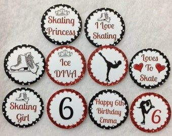 Set of 50/100/150/200 Personalized 6th Birthday Party Ice Skating Figure Skating  1 Inch Confetti Circles