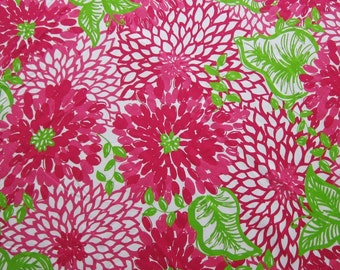 Classic White Zin cotton poplin   2 sizes  9 X 18 or 18 X 18 inches ~Lilly Pulitzer~