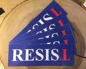 RESIST Anti-Trump Bumper Sticker Laptop Sticker - 5-pack - Anti-Hate Solidarity America - Inverted T - Upside Down T