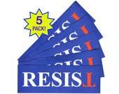 RESIST Anti-Trump Bumper Sticker Laptop Sticker - 5-pack FREE SHIP - Anti-Hate Anti-Far-Right - Falsum - Inverted T - Upside Down T