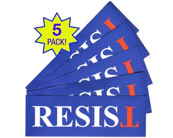 Resist Anti-Trump Sticker - FREE SHIP 5-Pack - Laptop or Bumper  - Anti-Hate Anti-Far-Right - Falsum - Inverted T - Upside Down T
