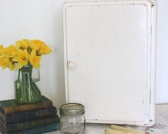 Vintage industrial metal medical/storage/bathroom cabinet