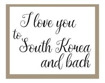 To South Korea and Back Print, Adoption Print, South Korean Adoption, Haiti Adoption, Adoption Announcement Print, Missionary Print