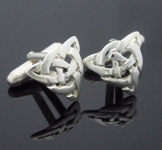Infinity Knot Cuff Links - Trinity Knot Cuff Links - Handmade Cuff links - Irish Jewelry - Free Insured Worldwide shipping