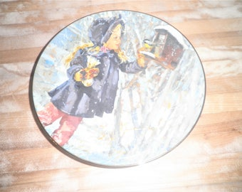 Vintage Stars Winter by Jessica Zmsky 8 1/4 inch collectable plate