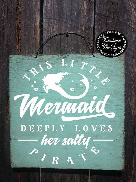 mermaid sign, mermaid decor, mermaid gift, mermaid decorations, mermaid gifts, mermaid wall art, mermaid salty pirate sign