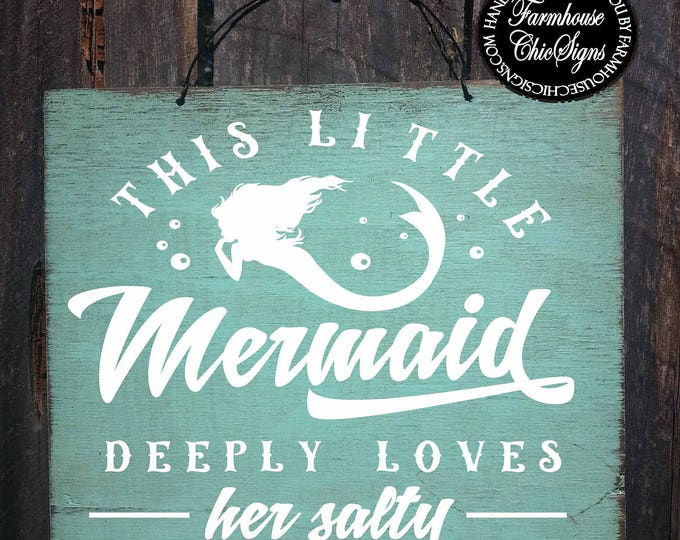 mermaid sign, mermaid decor, mermaid gift, mermaid decorations, mermaid gifts, mermaid wall art, mermaid salty pirate sign