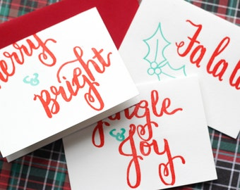 Letterpress Christmas Card Pack of 12
