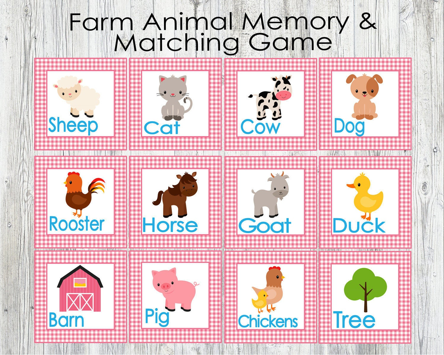 It's just an image of Canny Animal Matching Game Printable