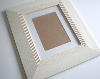 "Photo frame picture frame 8x8"" photo frame 20x20 cm rustic frame WOOD frame wide frame home decor bleached handmade RusticFrameShop"