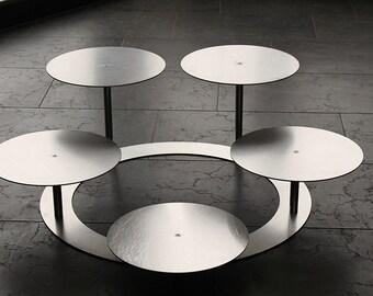 Cake stand Tortenetagere aluminum 3-storey round wedding cake stand Ø 30 cm