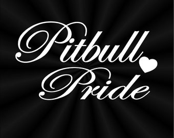 Pit Bull Decal Etsy - Vinyl decals for car windows