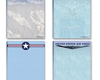Air Force Notepads - 4 USAF Note Pads - United State Air Force - Military - Armed Forces - 627