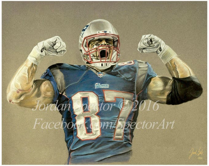 """Rob Gronkowski """"Gronk"""" Limited Edition art print - 20x24 inches"""