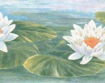Lily Pond 332B39719 Wallpaper Border