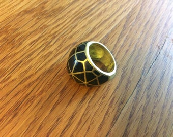 Ring, geometric ring, brass ring, gypsy,