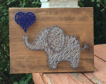 MADE TO ORDER Elephant String Art Sign