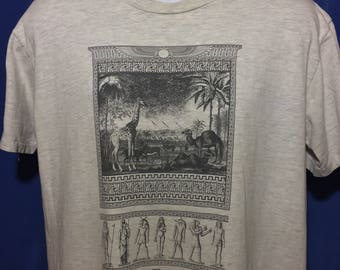 Vintage 1980s Banana Republic Egyptian t shirt rare *M