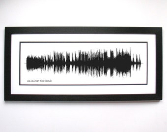 Us Against The World - Music Art Sound wave Print - Song Lyric Art, Band Poster