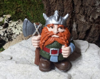 Viking Gnome Statue, Drawf statue, Elf, Viking Statue,Mini Garden decor, Fairy doors, for fairy gardens