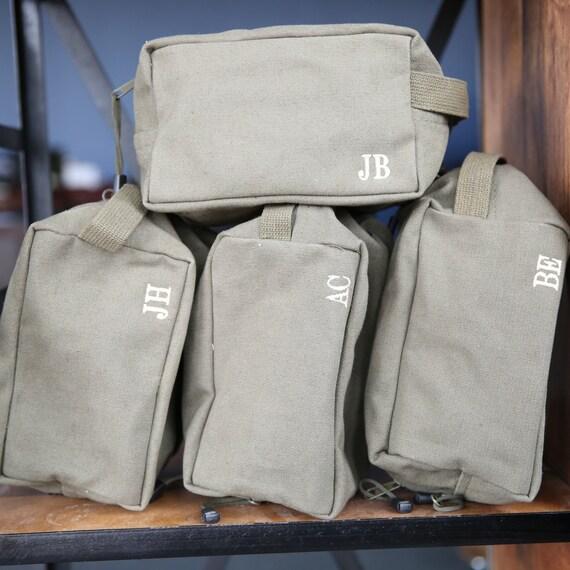set of 6 groomsmen gift shave bag kit personalized custom dopp