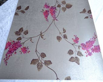Wallpaper - Cole and Son  Sample Sheet  - 19 x 17  Pink Lilac on Silver