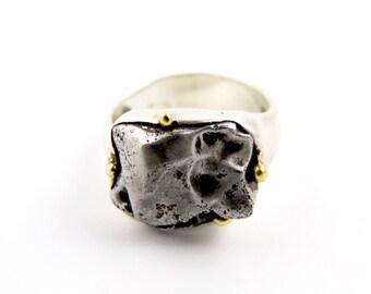 Sterling Silver Sikhote-Alin Meteorite Ring