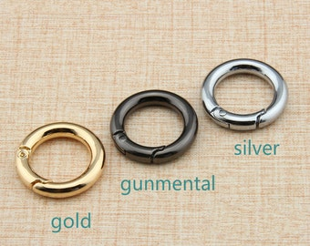 1pc O-Ring With Closure In Three Colors-Gold O Rings/ Gunmental O Rings/ Silver O Rings